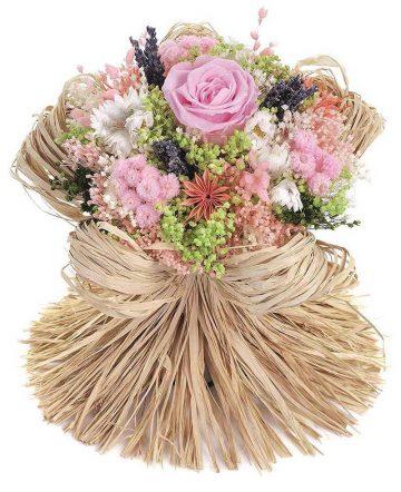 Bouquet Raffia Pink